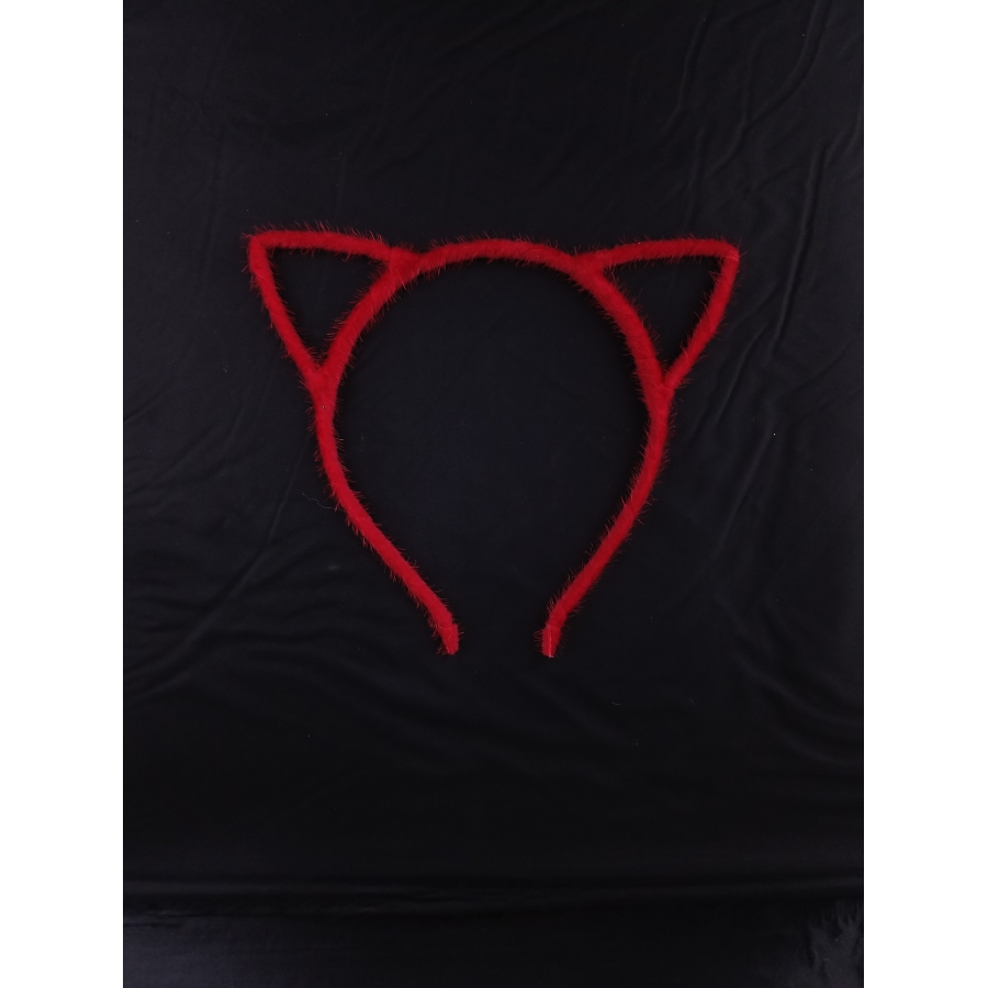 Red Basic Cat Headband